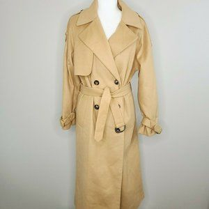 ASOS Carmel Soft Long Belted Oversized Coat Size 6